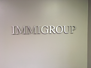 Immigroup's office - sign