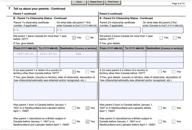 Citizenship Certificate Application Form Page 4 Top