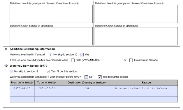 Citizenship Certificate Application Form Page 6 Bottom