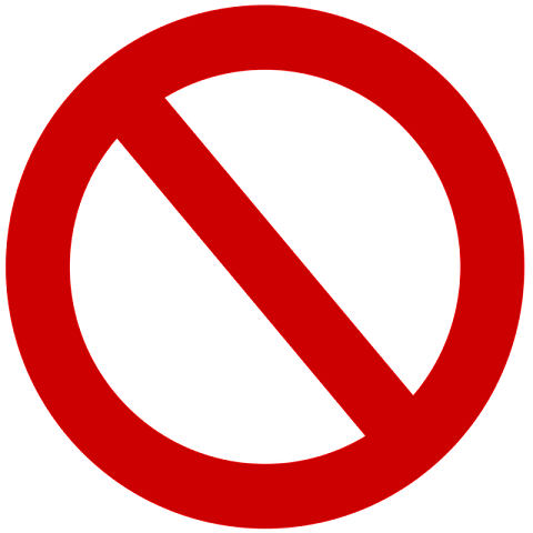 No entry symbol via https://pixabay.com/en/ban-shield-traffic-street-sign-1345887/