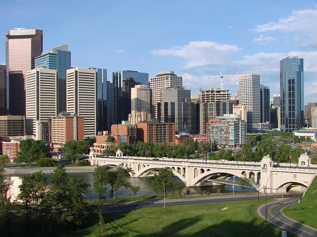 Calgary via https://pixabay.com/photos/calgary-canada-downtown-cities-70848/