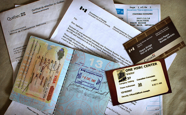 Canadian Immigration Documents via https://www.flickr.com/photos/meddygarnet/4195530627/