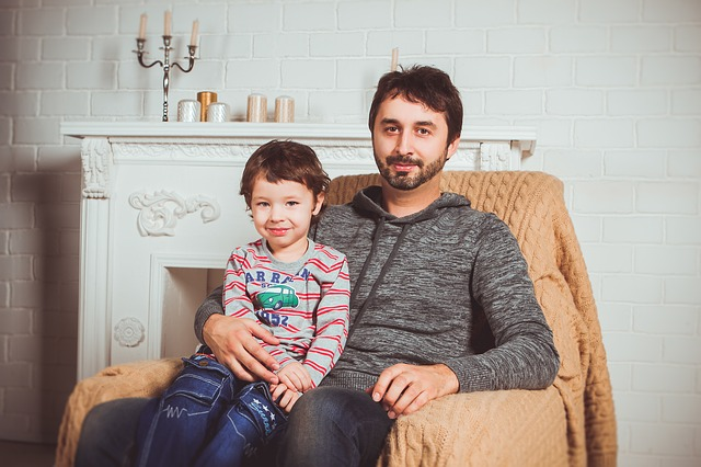 Father and Son via https://pixabay.com/en/family-photoshoot-armchair-dad-2972207/