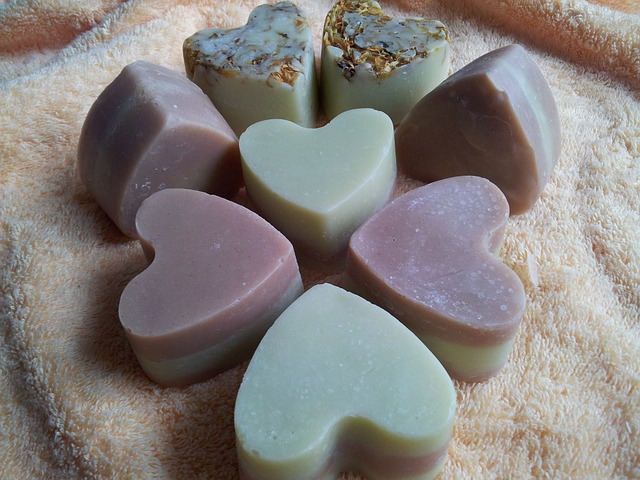 Soap via https://pixabay.com/en/soap-handmade-soap-toilet-wash-908227/