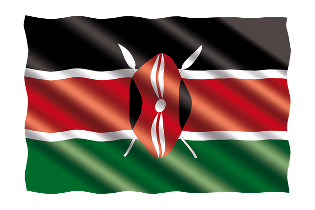 Kenyan Flag via https://pixabay.com/en/international-flag-kenya-2657227/