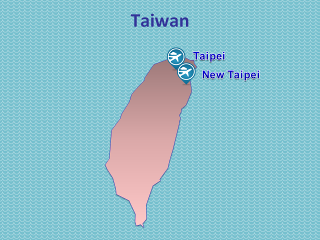 TWOV Participating Airports in Taiwan
