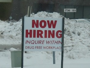 Now Hiring By jay from cudahy (now hiring drug free workplace) [CC BY 2.0 (https://creativecommons.org/licenses/by/2.0)], via Wikimedia Commons