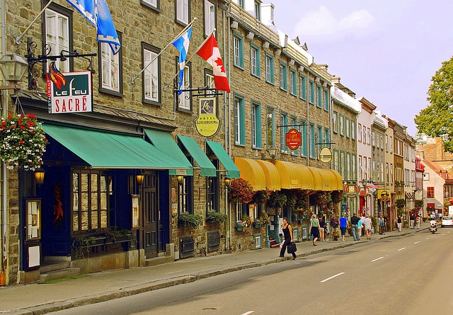 Lower Quebec via https://pixabay.com/en/canada-quebec-old-quebec-lower-town-1092352/