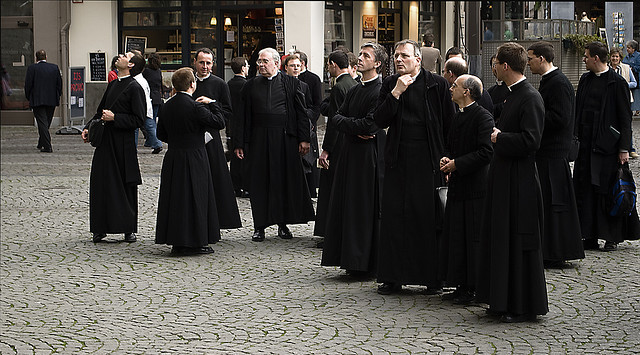 Priests on Holiday by Daan M https://www.flickr.com/photos/34991279@N03/