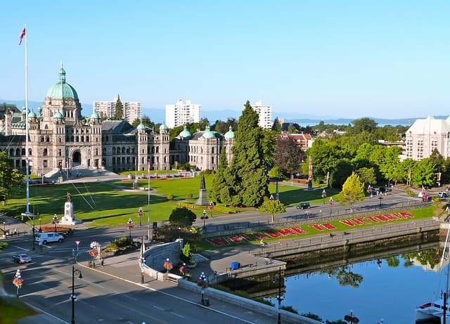 Victoria from https://pixabay.com/en/british-columbia-parliament-victoria-481846/