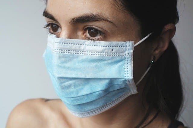 Mask to prevent infection via https://pixabay.com/photos/virus-protection-coronavirus-woman-4898571/