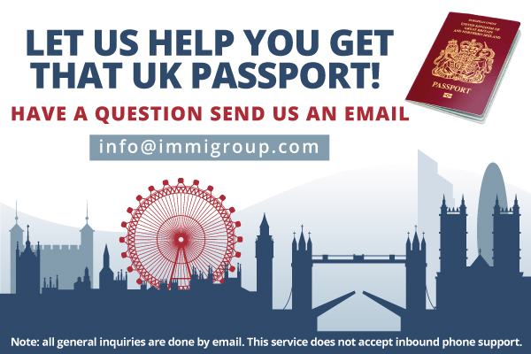 Register as a British Citizen by contacting info@immigroup.com