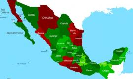 Map of Mexico by Cartel violence [Public Domain]