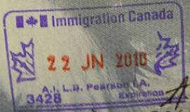 Canadian Passport Stamp [Public Domain]