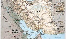 "Map of Iran By These maps and charts are scanned from ""Atlas of the Middle East"", published in January 1993 by the U.S. Central Intelligence Agency. [Public domain], via Wikimedia Commons"