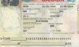 Visa to Canada by Canadian goverment [Public domain]