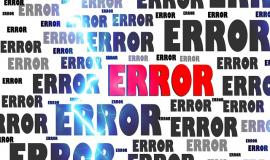 Error via https://pixabay.com/en/error-crash-problem-failure-63628/