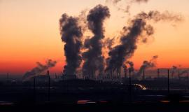 Pollution via https://pixabay.com/photos/industry-sunrise-air-pollution-1752876/