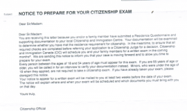 Notice to Prepare for Your Citizenship Exam