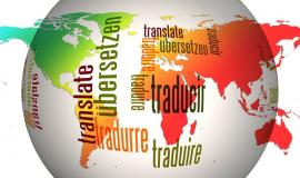 Translate in different languages via https://pixabay.com/en/globe-world-languages-translate-110775/