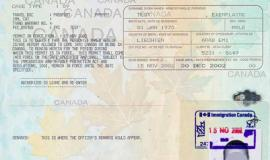 Canadian Work Permit Example