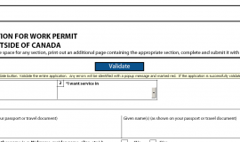 Validating a IRCC form