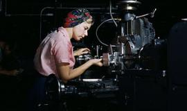 Female Shop Technician at Douglas Aircraft Company factory, 1942