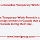 IMM 1295 Work Permit Application